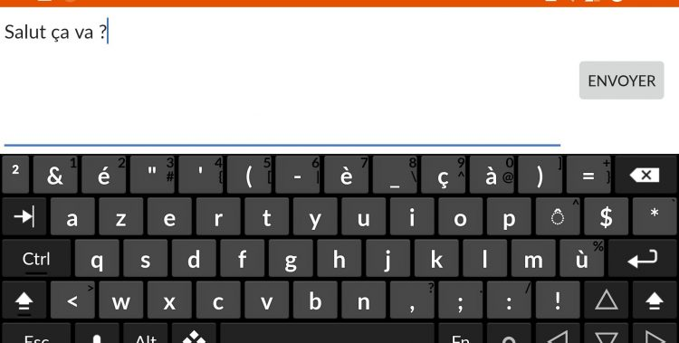 android clavier